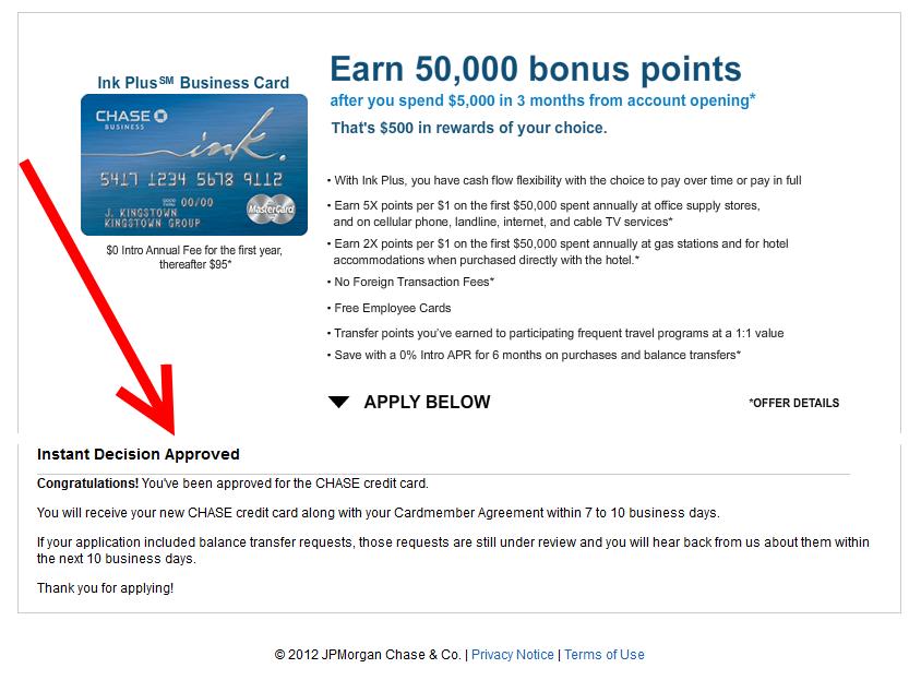 Visa credit card instant approval